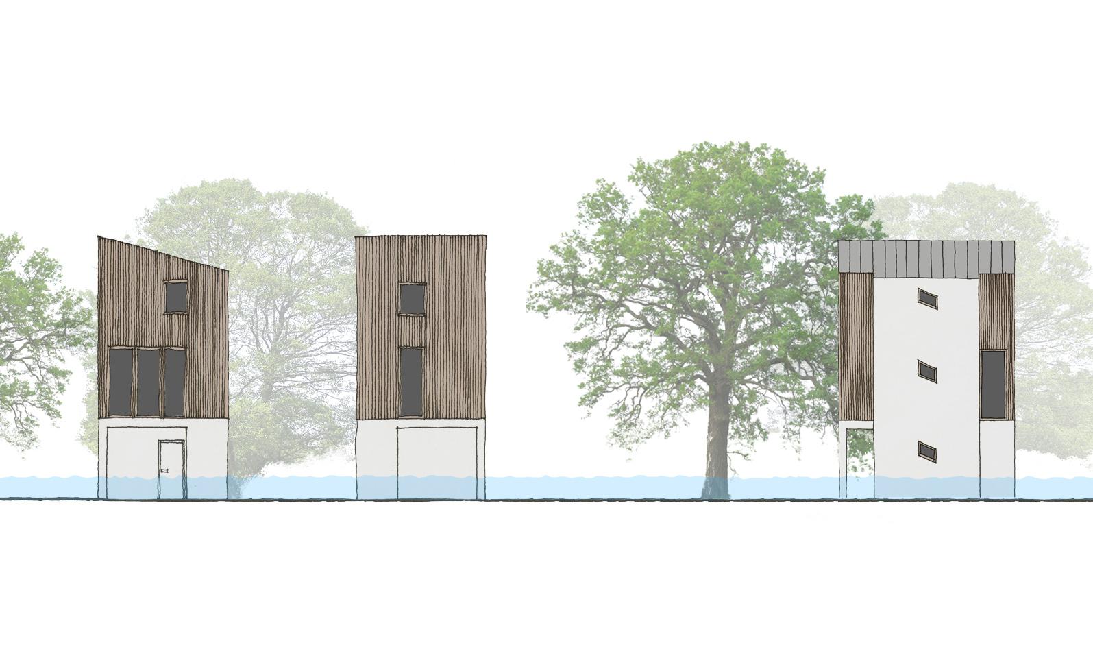 Věžové domy do zátopové oblasti