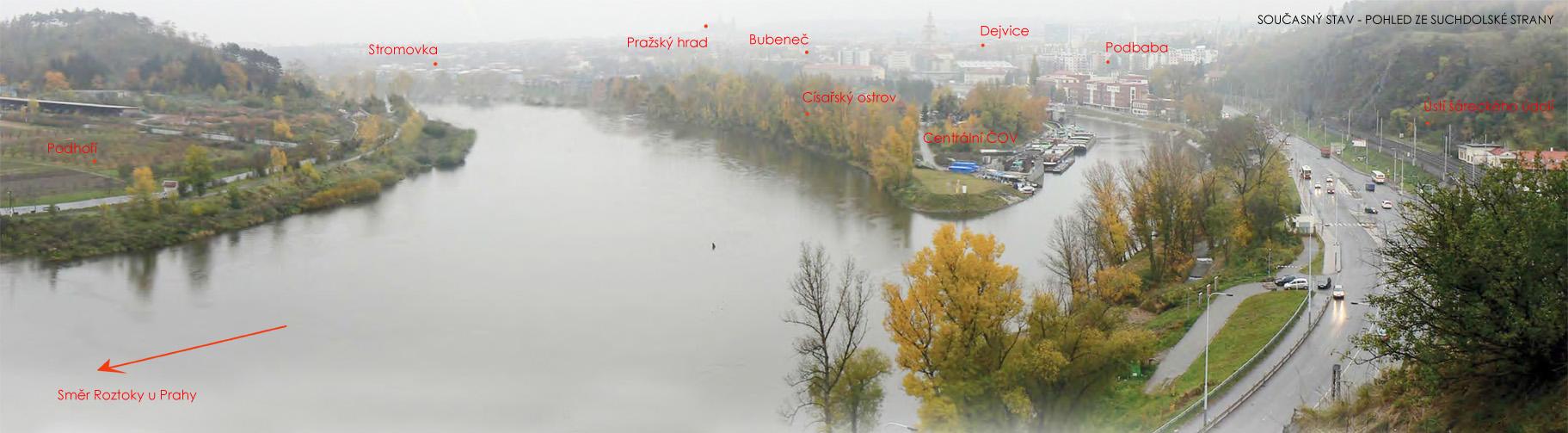 Nová vltavská lávka v Praze: Podbaba -Trója