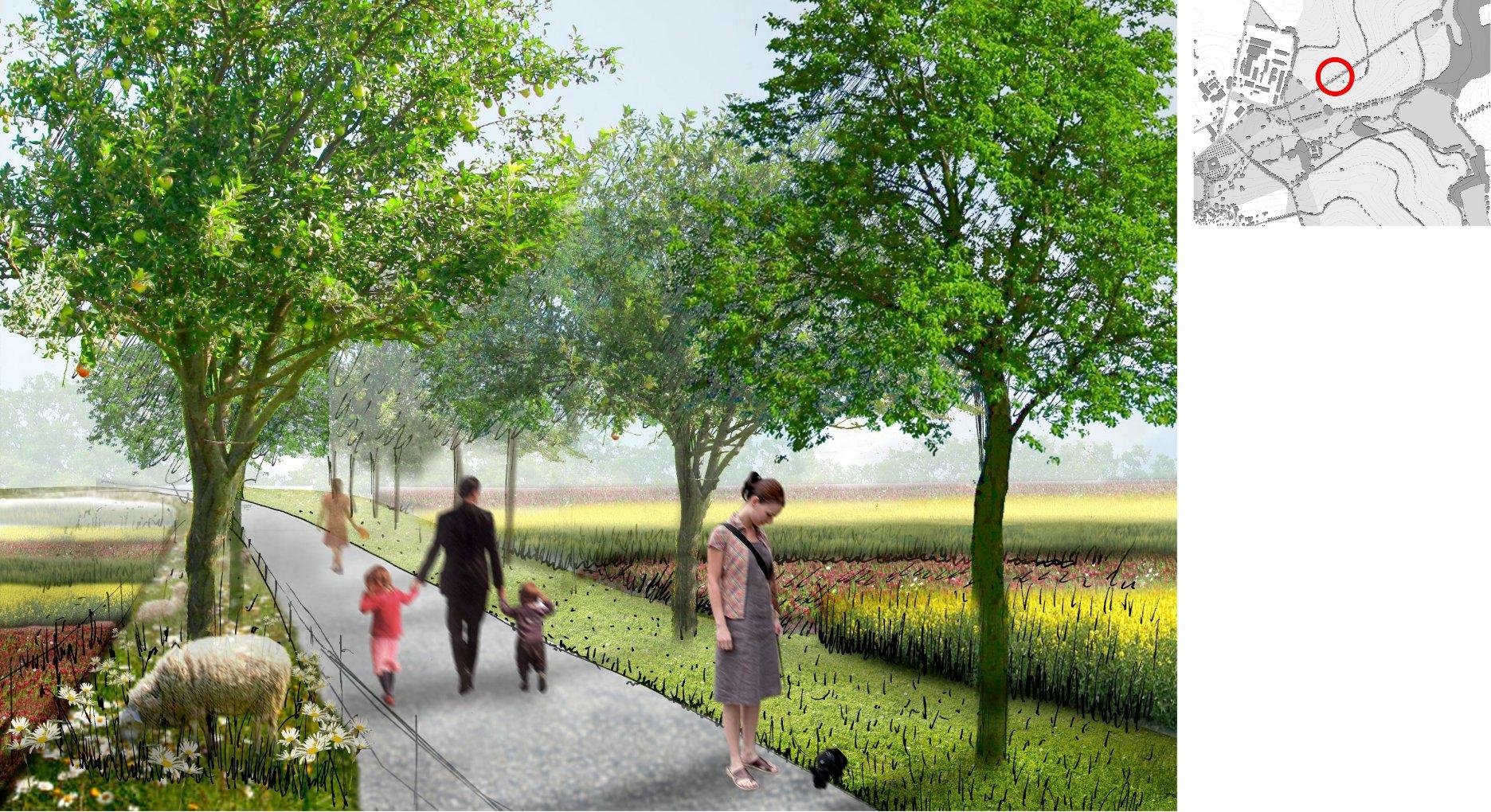 Zemědělská parková krajina