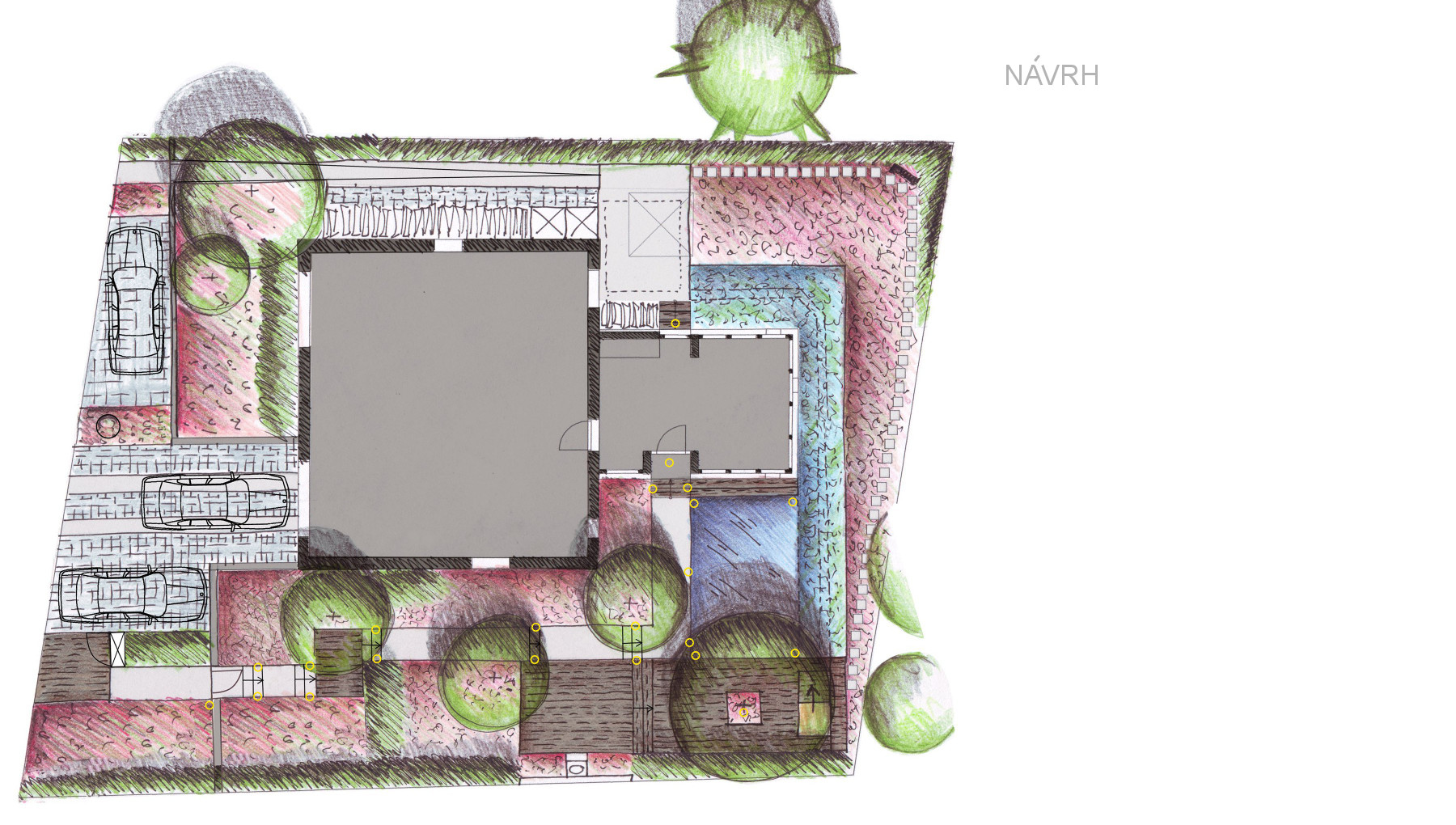 Rodinná zahrada u Odry