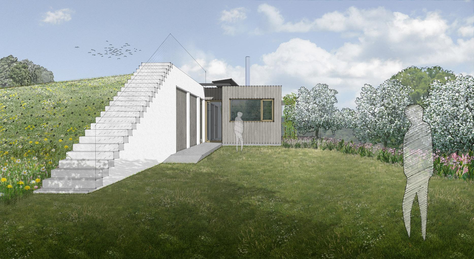 Ostrovní rekreační dům se zahradou v Mnichovicích